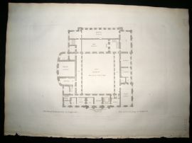 Vitruvius Britannicus C1720 Architectural Plan. 2nd Story, Chatsworth, Derbyshire